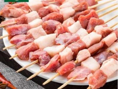 绿祥内蒙古呼伦贝尔有机羊肉串新鲜烧烤食材羊肉原味包邮70串