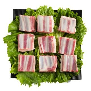 吉羊羊 羔羊寸排 2斤内蒙古锡盟草原生羊排新鲜羊肉烧烤食材羊排火锅500g*2